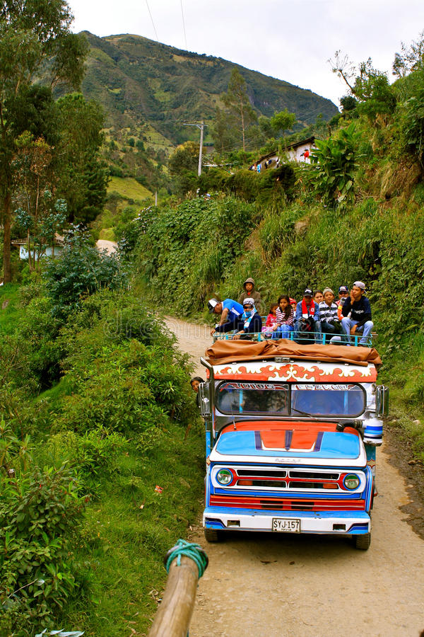 Public transport in rural Colombia royalty free stock images