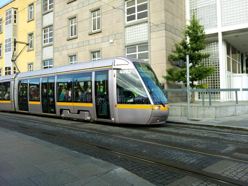 LUAS Public transport tram in Dublin royalty free stock photography