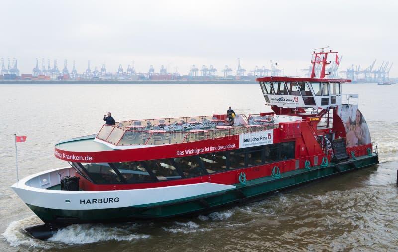 Public transportation boat in Hamburg, Germany royalty free stock images