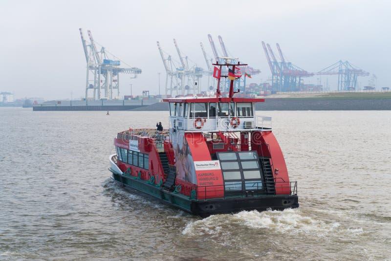 Public transportation boat in Hamburg, Germany stock photography