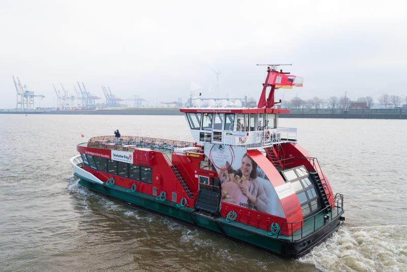 Public transportation boat in Hamburg, Germany stock images