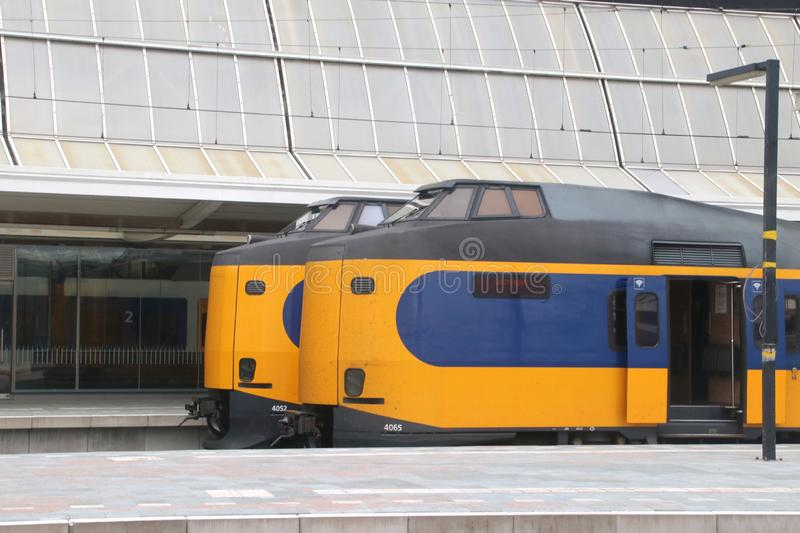 Public transportation : Station Zwolle with all its platforms stock photography