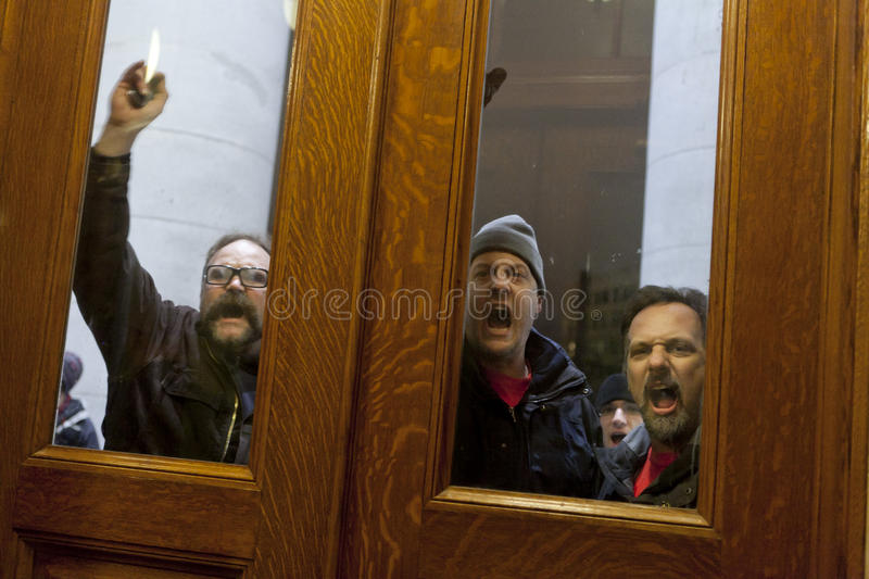 Download Public Union Thugs At The Door Editorial Image - Image: 19380250
