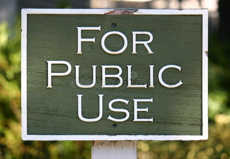 For Public Use royalty free stock image