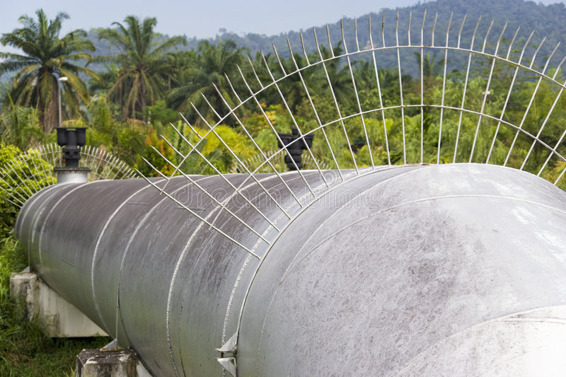 Public Water Supply Pipe stock photography