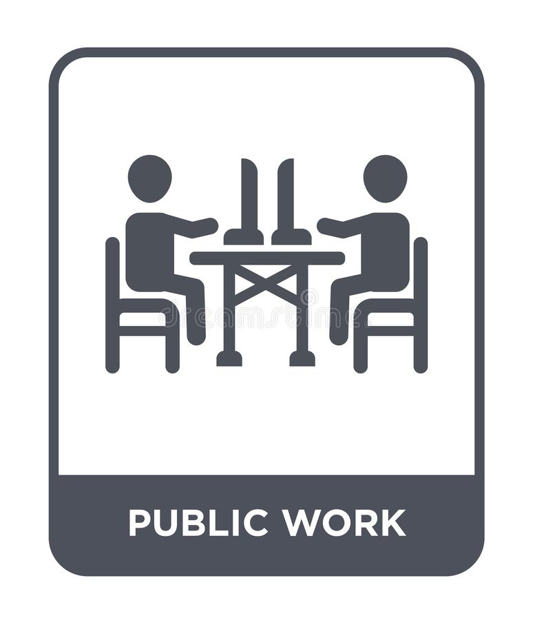 public work icon in trendy design style. public work icon isolated on white background. public work vector icon simple and modern stock illustration