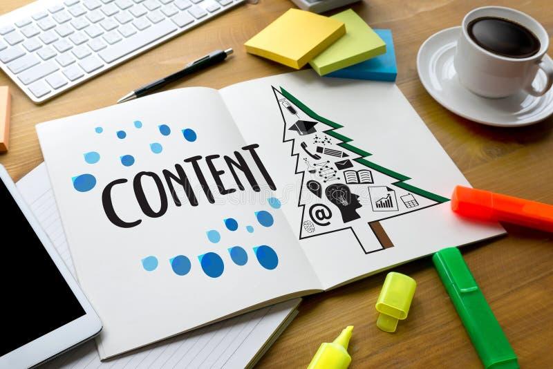 publicación Blogging del márketing de los datos contentos del contenido la medios informa imagen de archivo