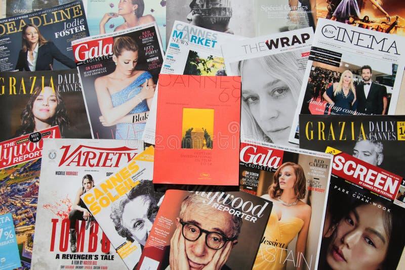 Publication officielle du festival de film de Cannes photo libre de droits