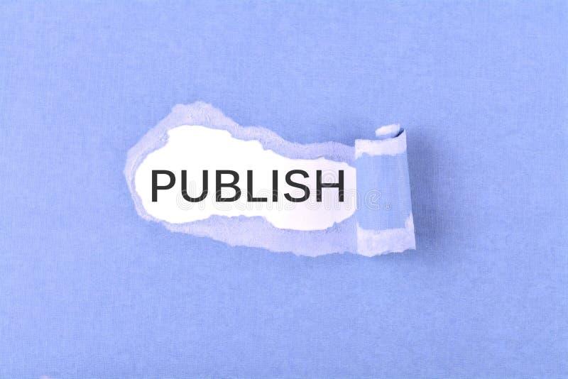 Publiceer woord stock afbeeldingen