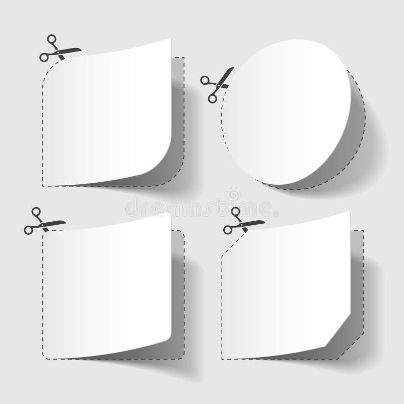 Publicidad de cupones ilustración del vector