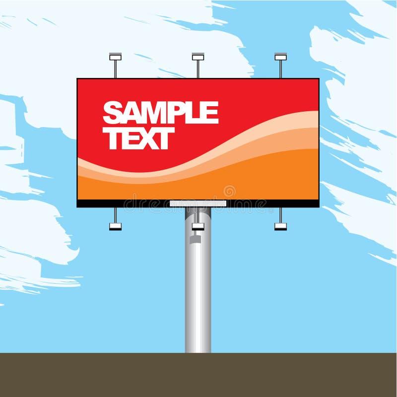 Publicidad de la cartelera stock de ilustración