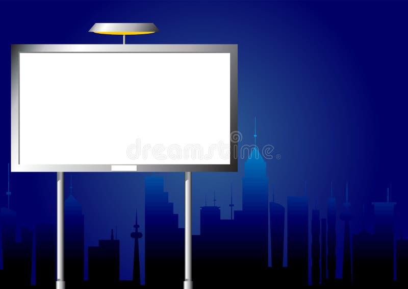 Publicidad de la cartelera por noche stock de ilustración