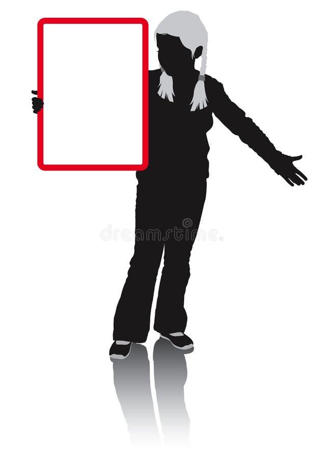 Publicidad de la muchacha ilustración del vector