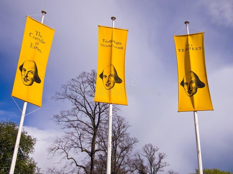 Publicidad de los juegos de Shakespeare fotos de archivo libres de regalías