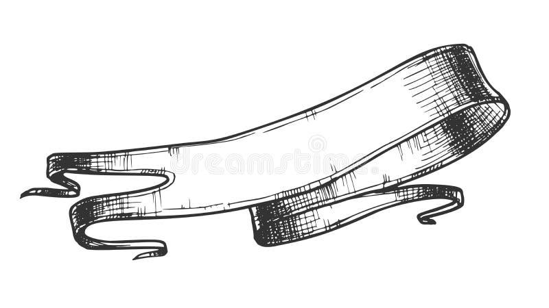 Publicidad de vector medieval del estilo de la cinta del espacio en blanco ilustración del vector