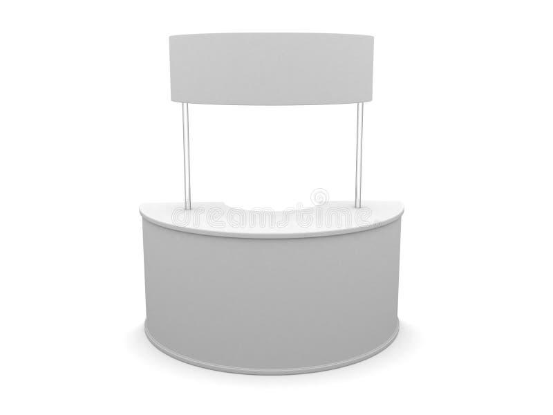 publicidad del abrigo del escritorio de la curva de la venta 3D en un fondo blanco fotografía de archivo libre de regalías