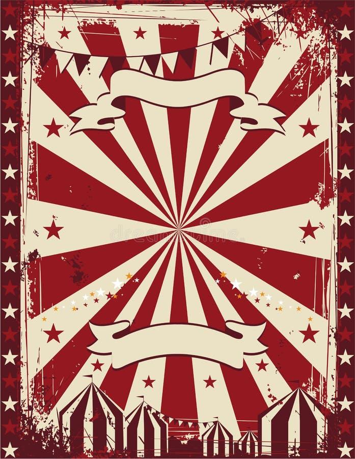 Publicidad del fondo del cartel del circo del vintage libre illustration