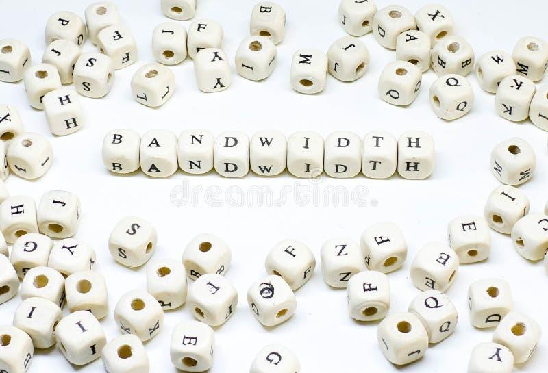 Publicidad online que bloguea del correo electrónico del comercio electrónico y ancho de banda de madera social del ABC del térmi foto de archivo