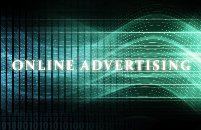 Publicidade online ilustração royalty free