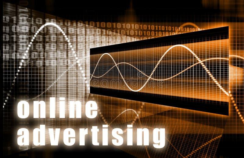Publicidade online ilustração stock