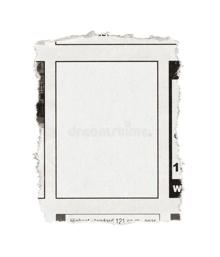 Publicité blanc de journal images stock