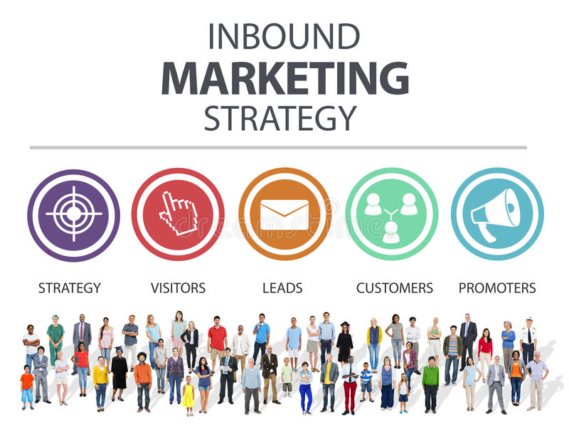Publicité d'arrivée Co de marquage à chaud commerciale de stratégie marketing images stock