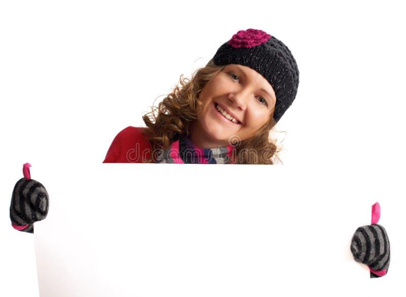 Publicité de l'hiver image libre de droits
