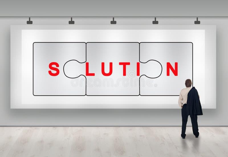 Publicité de solutions d'affaires photo stock