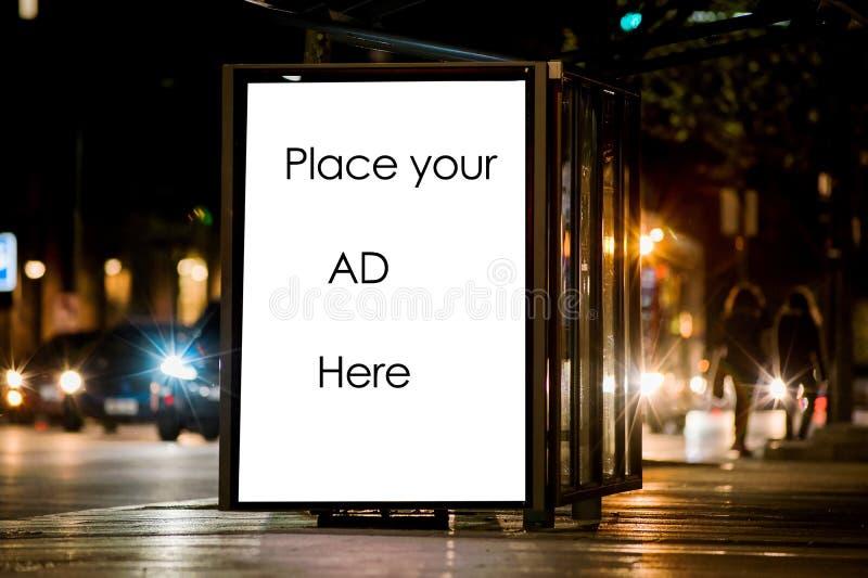 Publicité extérieure images stock