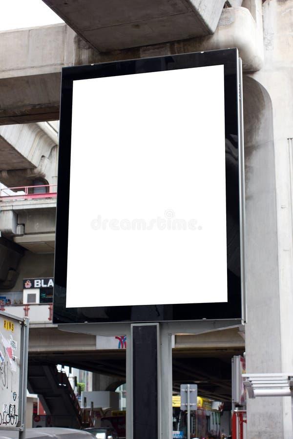 Publicité extérieure dans la ville photo libre de droits