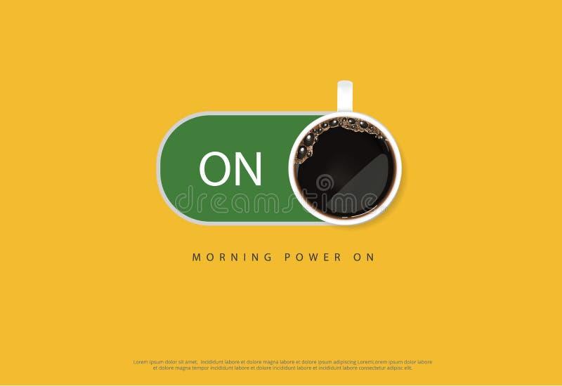 Publicité Flayers d'affiche de café illustration stock