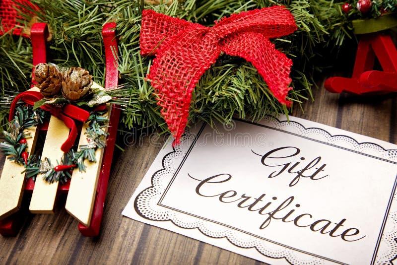 Publicité pour le chèques-cadeaux image libre de droits