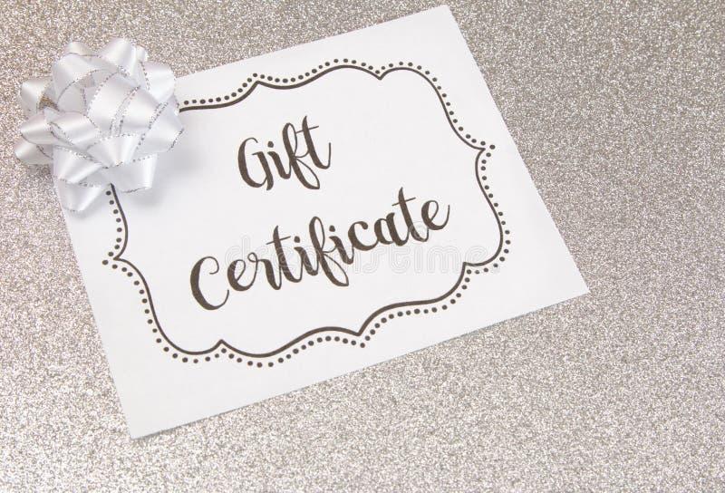 Publicité pour le chèques-cadeaux images stock