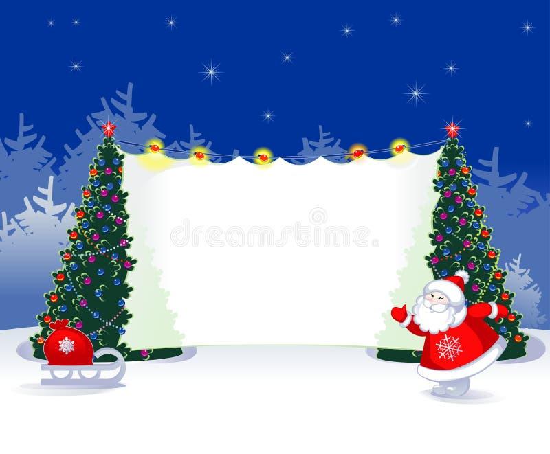 Publicité Santa illustration stock