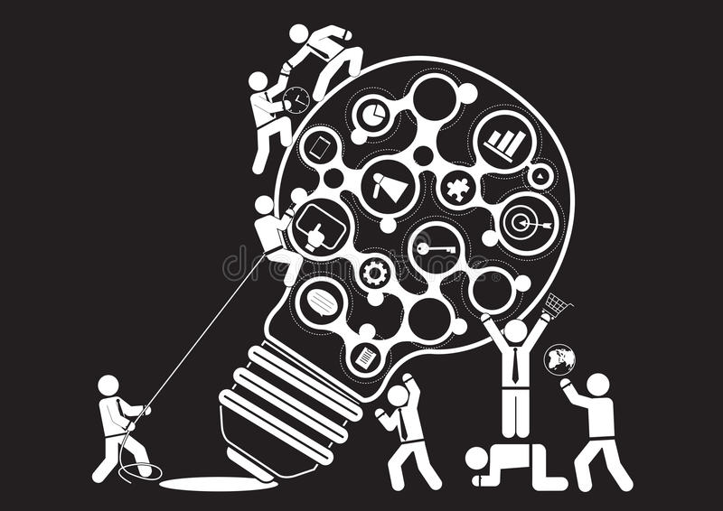 Publicitaire mededeling vector illustratie