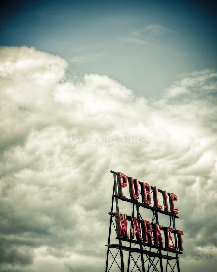 Publicmarketsign2 royalty-vrije stock foto's