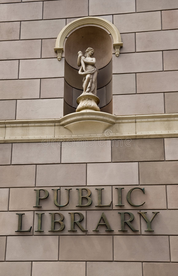 publiczna biblioteczna posąg zdjęcie royalty free