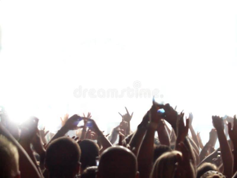 publiczność koncert rock obraz stock
