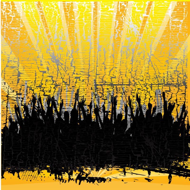 Publiek Grunge royalty-vrije illustratie