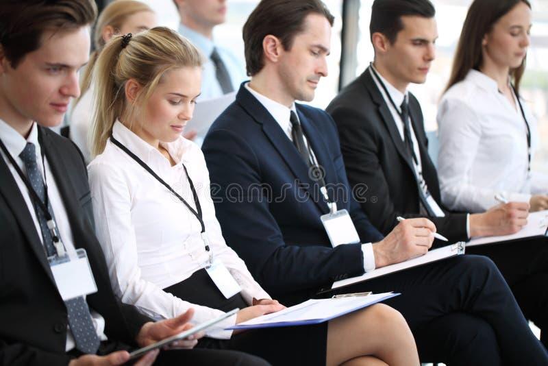 Publiek op conferentie stock afbeelding