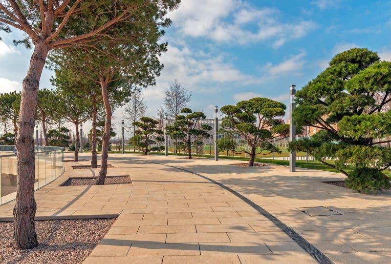 Publieke stadspark royalty-vrije stock foto