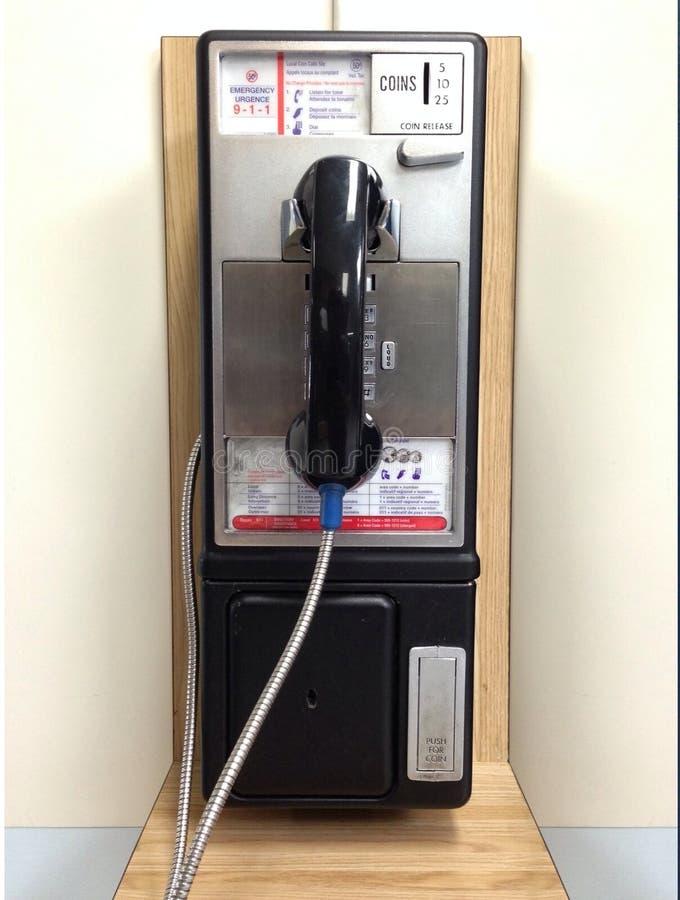 Publieke telefooncel stock foto