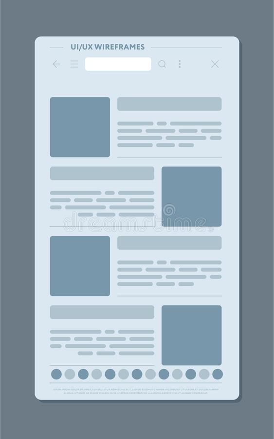 Publikationer på webbsidan stock illustrationer