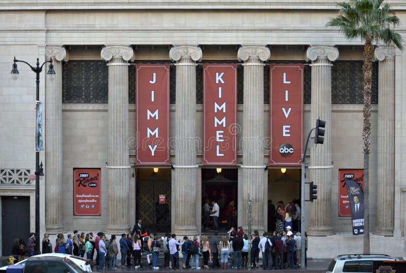 Publikum überprüft herein Jimmy Kimmel Live Hollywood California stockfotografie