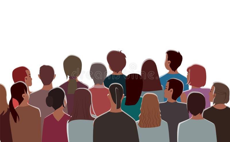 Publikum am Kino-Theater, Unterhaltung bei Hall lizenzfreie abbildung