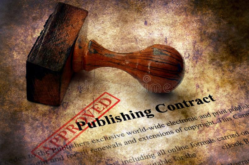 Publishing contract - approved grunge concept.  royalty free stock photos