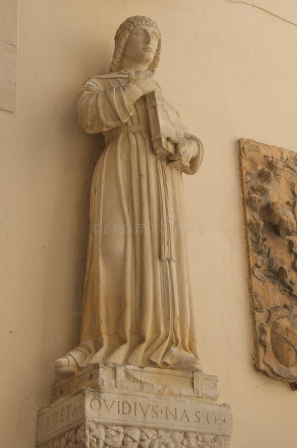 Publius Ovidius Naso, Statue, Sulmona, Italien lizenzfreies stockfoto