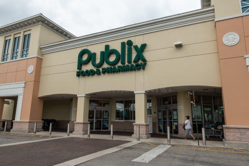 Publix, is een werknemer-bezeten, Amerikaanse supermarktketting stock foto's
