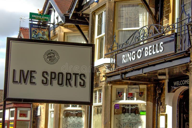 Sport used to promote pubs stock image