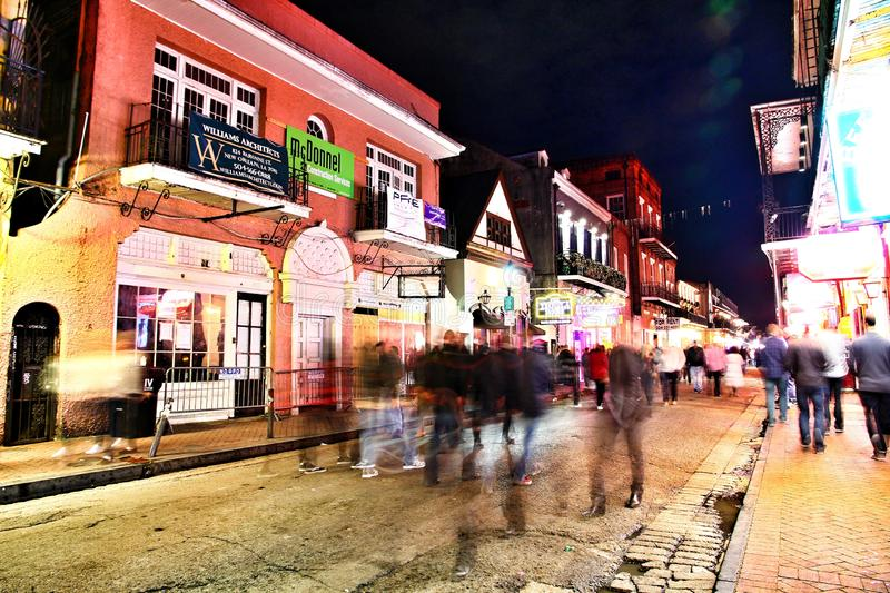 Pubs and bars with neon lights royalty free stock photos